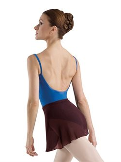 Bloch bordeaux georgette skirt til ballet