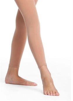 Hudfarvet Pridance footless tight teen/voksne